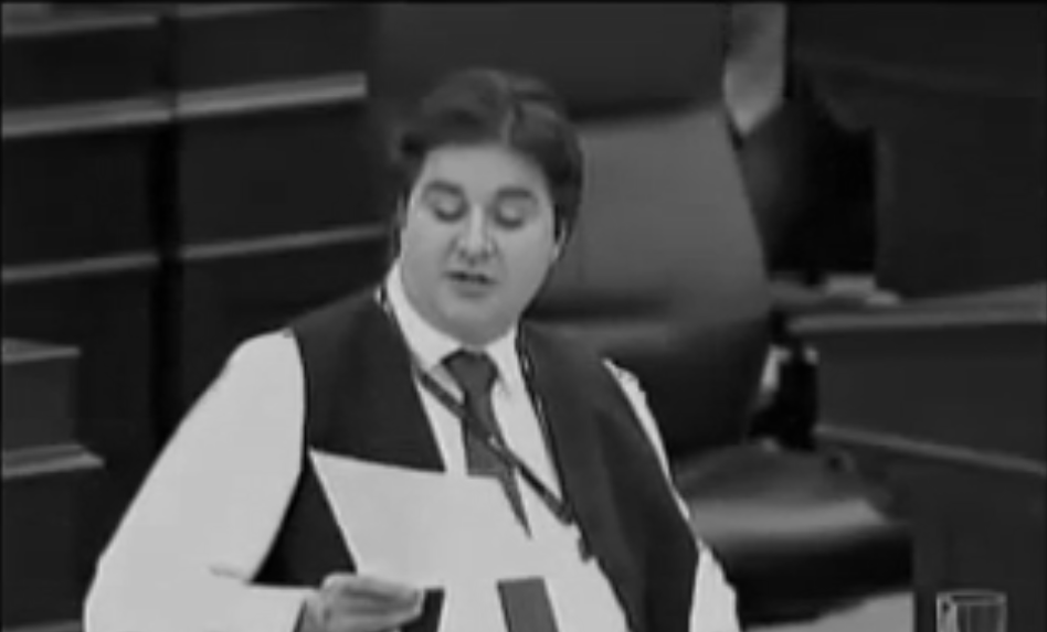 Kent  making a speech on trans rights in AB Leg 2010