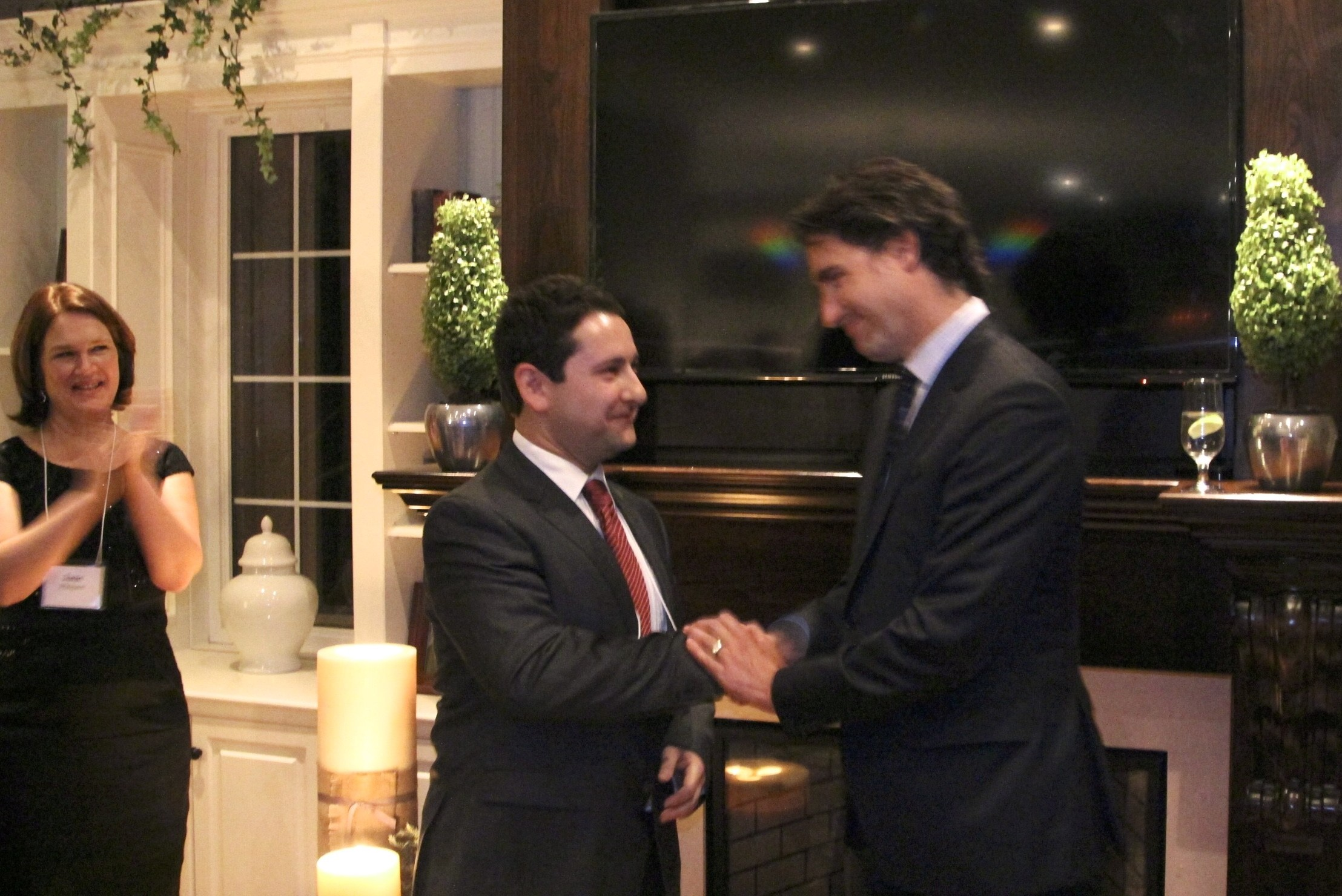 Justin Trudeau thanking Jason for his work on behalf of grassroots Liberals